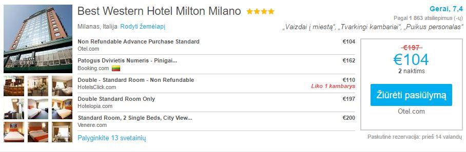 Best western hotel milton milano pig s skryd iai ir for Hotel milton milano